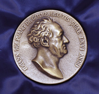 The Goethe medal with a relief of the German humanist