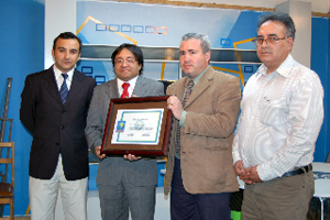 Calama TV's Executive Director Victor Tapia and others, Calama City, Nov 19, 2009