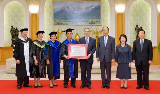Kyrgyz Institute Honors SGI President