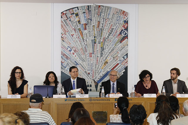 Esquivel Ikeda appeal presented at Rome's Foreign Press Association