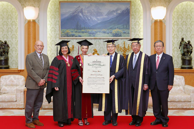 Central Univ of Venezuela presents honorary doctorate to Soka Univ founder Daisaku keda