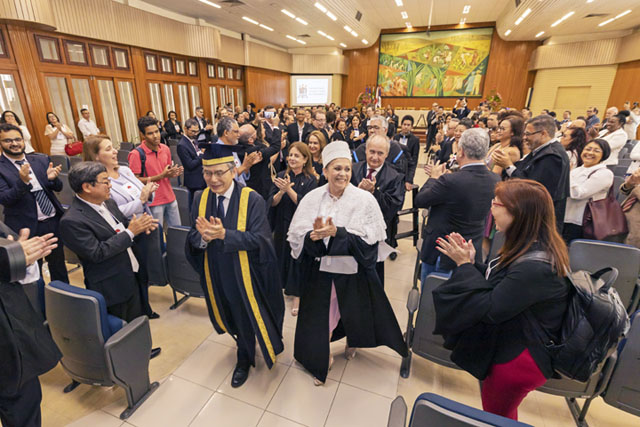 Federal Rural University of Pernambuco, Brazil, honors Soka University founder Daisaku Ikeda with an honorary doctorate