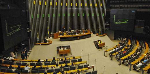 Brazil Chamber of Deputies assembly honoring Daisaku Ikeda at the National Congress in Brasilia (June 6, 2008)