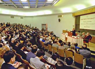 "Ikeda lectures on ""Mahayana Buddhism and Twenty-first Century Civilization"" at Harvard University"