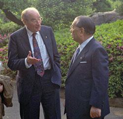Con el doctor John D. Montgomery en Hachioji (Mayo, 1992)